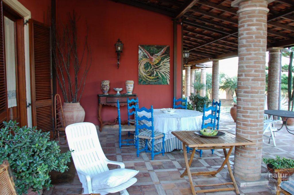 Terrasse Villa Chiarenza