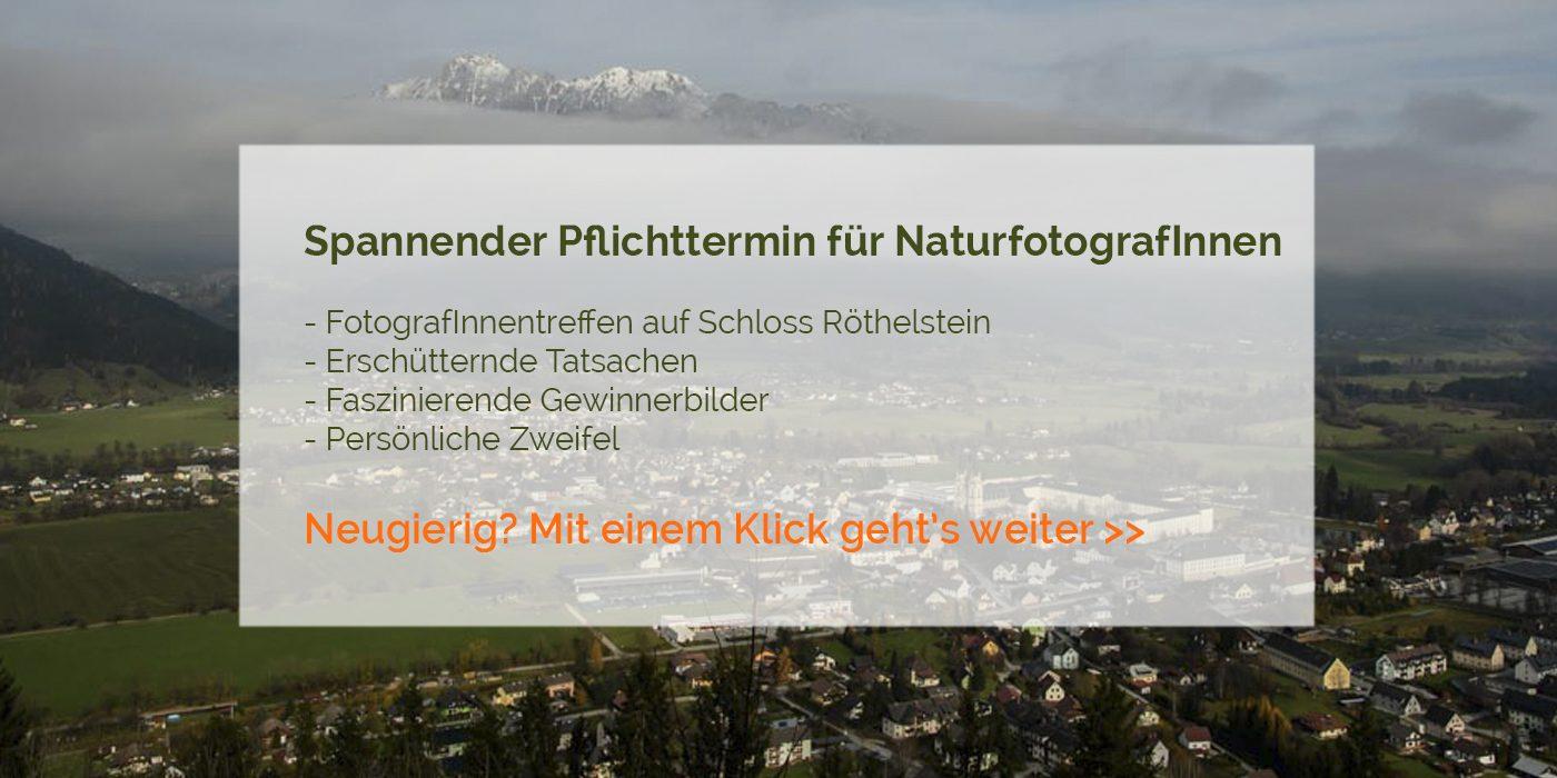 Spannender Pflichttermin für Tier- & NaturfotografInnen