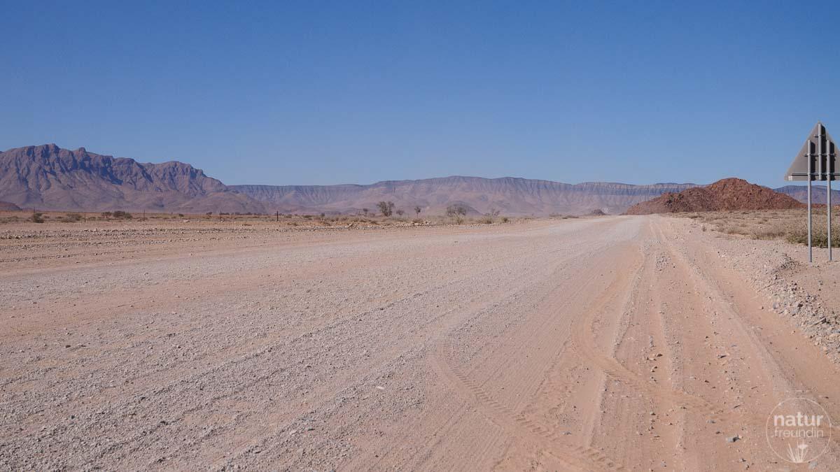 Schotterstraße, Namibia